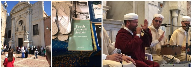 Die islamische Gemeinde Venedigs strömt in «ihre» neue Moschee, im «Lädeli» verkauft man ein Arabisch-Lehrbuch, die «fratelli maroccani» intonieren Allah Akhbar an der Eröffnung