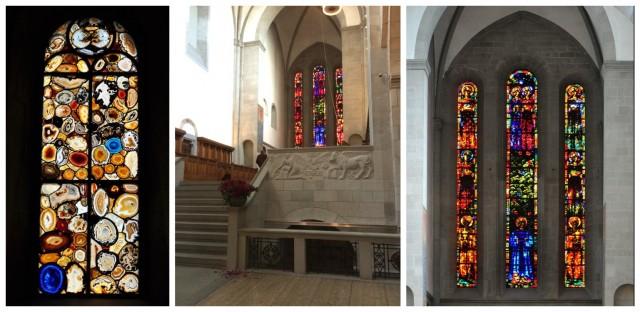 Augusto Giacometti und Sigmar Polke (links) haben die Fenster des Grossmünsters entworfen