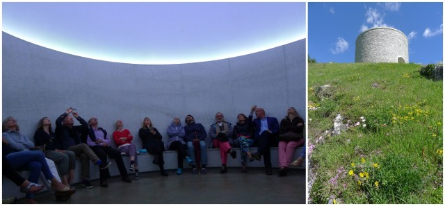 «Art Weekend»-Ritual im Sky xx von James Turrell (rechts Aussenansicht)