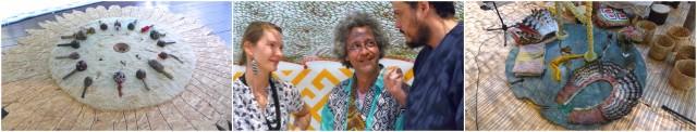 Neto und die Weisheit des Waldes: Teile der Installation und ein Gespräch mit den Zuschauern