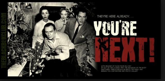 Emotionslose Geschäftsmaschinen im Anzug:  Werbung für den 1956-Film «Der Angriff der Körperfresser»