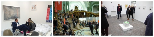 Die Messe FIAC im Grand Palais: der Stand von Karma International, unnachahmliche Architektur des Grand Palais, der Stand von Hauser & Wirth