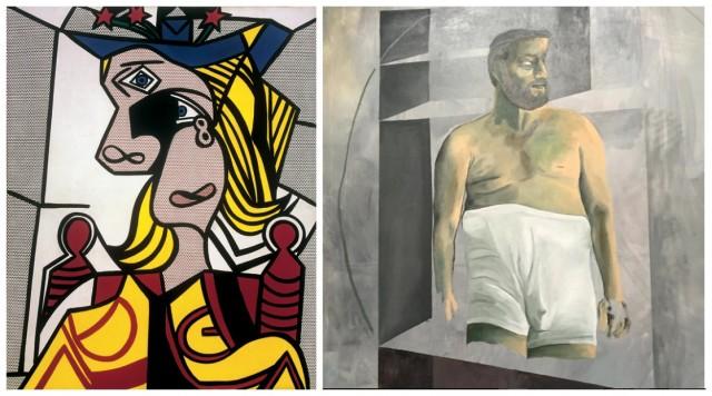 Wunderbare Malergrüsse: Roy Lichtensteins «Woman with flowered hat» und Martin Kippenbergers «Untitled» von 1988
