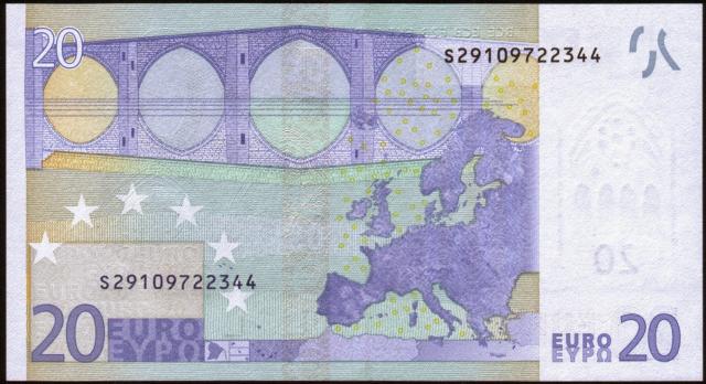 Viertklassiges Design von einem drittklassigem Designer: fiktive Brückenbögen auf der Euro-Note