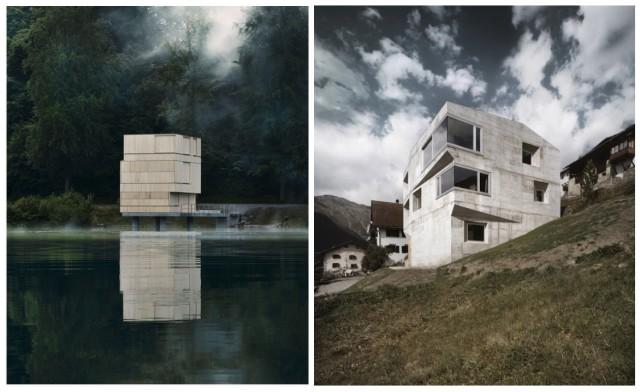 Skulpturale Bauten von Gabrielle Hächler und Andreas Fuhrimann: Zielturm am Rotsee, Haus Presenhuber in Vnà