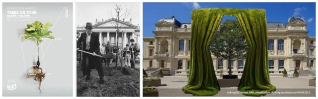 Beuys Eicheln wachsen weiter, der Künstler an der Schaufel 1982, Radical Action Reaction im Jardin des Plantes