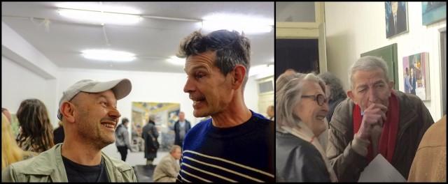 Der Künstler Andres Gugginbühl im Gespräch mit Cyril Kuhn, Rosina Kuhn spircht mit Christoph Vitali
