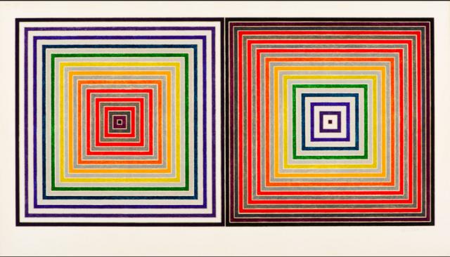 Letztes Jahr an der Art Basel Miami beach für eine Million Dollar gekauft: Frank Stella, Double Gray Scramble (1973)