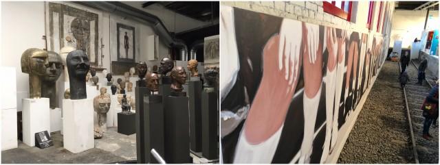 Otto Müllers Nachlass schaut vom Rande zu, Svelana Hanselmanns malerische Installation über den alten Schienen
