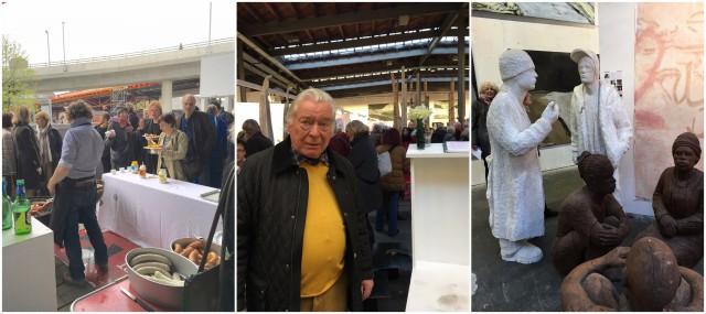 Art-Dock-Präsident Fritz Billeter, Skulpturen von Sieglinde Wittwer, die beliebten Würste