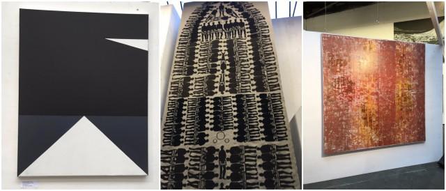 Werke von Jenny Losinger-Ferri (links), Noomi Gantert (Mitte) und Barbara Hée
