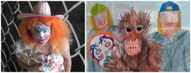Grosse, helle Kinderaugen, vulkanisch aus dem Inneren ausbrechende Zeichnungen: Bailey Scieszka at her best