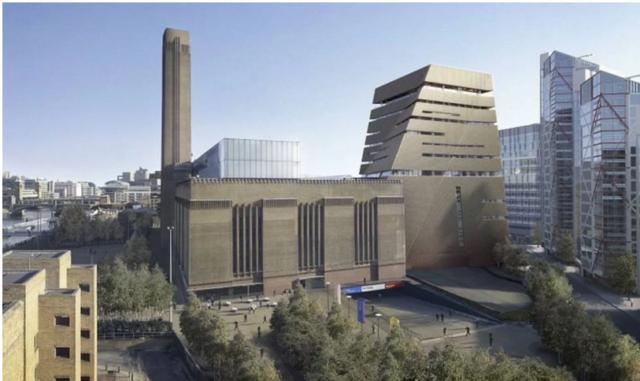 Switch House, die neue Erhöhung der Tate Modern: der Volksmund nennt sie «Gedrehte Zigarette» oder «dekonstruierte Pyramide»