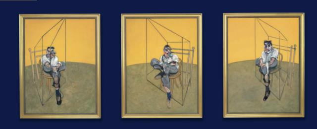 The 'Three Studies of Lucian Freud'. The Francis Bacon painting of Lucian Freud has become the most valuable work of art ever sold at auction – fetching almost £90 million.