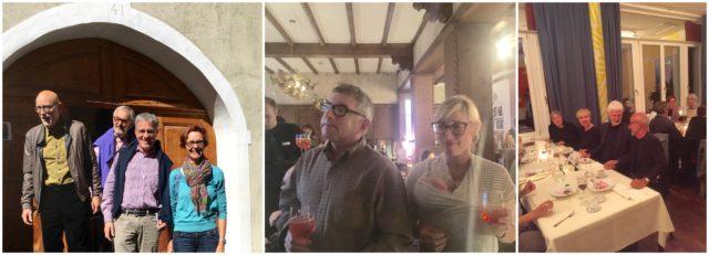 Inspiration Kunst: Art-Weekend-Teilnehmerin und Direktorin der Economie Suisse Monika Rühl (Bild links, rechts im Bild), Mark Dion und Dana Sherwood mit ihrem Baby, Elisabeth Garzoli und im Gespräch mit der Künstlerin Maria Loboda und dem Direktor der Bundeshalle Bonn Rein Wolfs, Gianni Garzoli