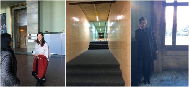 Wie im Film (könnte auch ein Kubrick-Schocker sein): die Korridore des Palais des Nations beim Einnachten