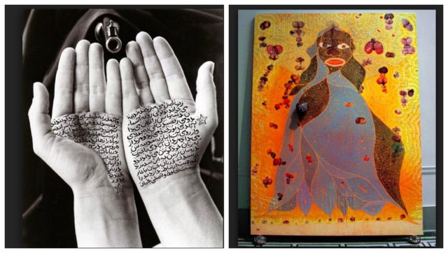 Mitgefühl und Experimentierlust: Shirin Neshats «Women of Allah», Chris Ofilis «The Holy virgin Mary».