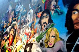 Man merkt an manchen Stellen, das Albert Hoffmann in Basel das LSD erfand. Grafitti in der Nähe des Lunique.