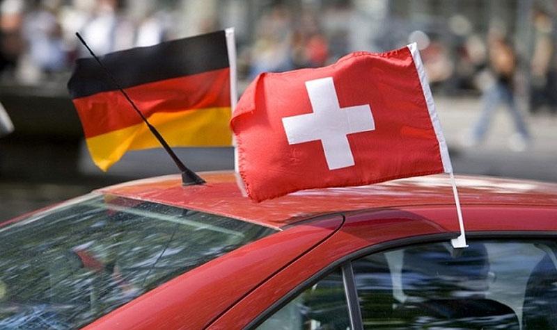 Vor zehn Jahren friedlich vereint: Deutsche und Schweizer an der EM 2008