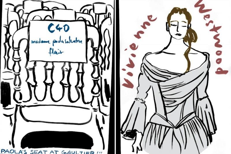 Illustrationen von den Pariser Prêt à Porter Schauen im März 2012