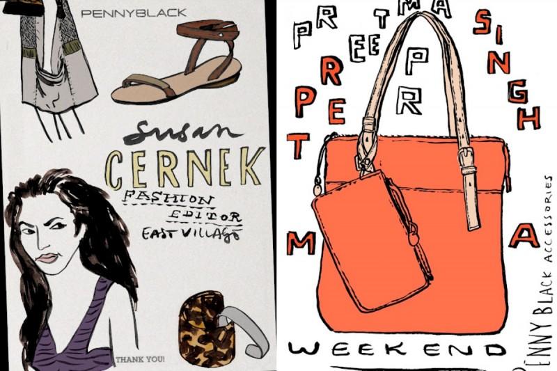 Illustrationen aus dem aktuellen Penny Black Magalog Saison Frühjahr 2012.