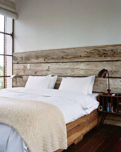 Schnell Und Weniger Aufwendig Ist Es, Die Wand Nur Partiell Mit Holz  Einzukleiden. Dies Ist Auf Dem Bild, Entdeckt Auf «Deco Cool», Auf Eine  Wirkungsvolle ...