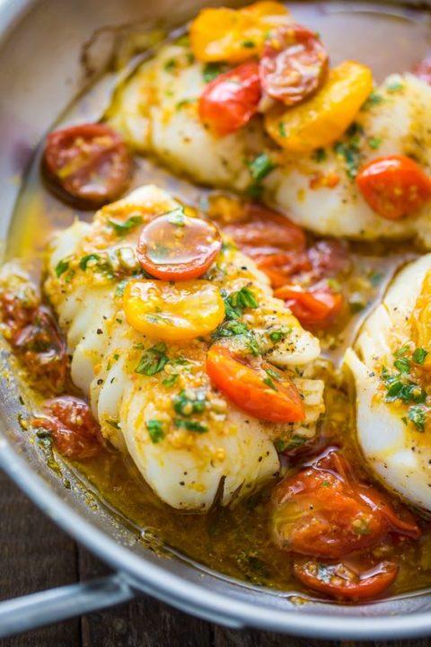 dorschfilets mit tomatensauce