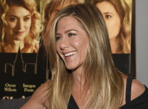 "Jennifer Aniston arrives at the Los Angeles premiere of ""She's Funny That Way"" at the Harmony Gold theater on Wednesday, Aug. 19, 2015. (Photo by Chris Pizzello/Invision/AP)"