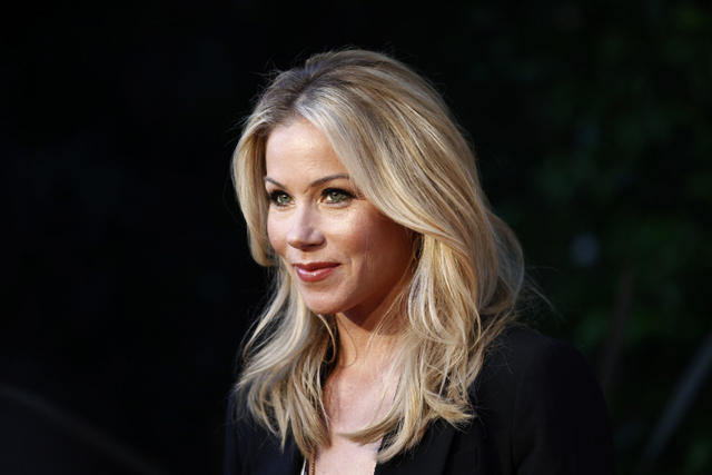 Actress Christina Applegate arrives at the Annual Backstage at the Geffen Gala in Los Angeles on Monday, March 22, 2010. (AP Photo/Matt Sayles)