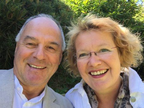 Wilhlem Schmid und Astrid Scheld.