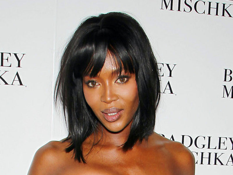 In this image released by Starpix, model Naomi Campbell poses at the Badgley Mischka Spring 2015 show was modeled during Fashion Week in New York on Tuesday, Sept. 9, 2014. (AP Photo/Starpix, Marion Curtis)