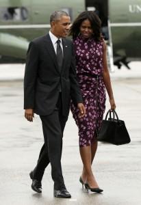 Immer noch seine First Lady: Barack Obama und Ehefrau Michelle vor wenigen Tagen in New York. Foto: Keystone