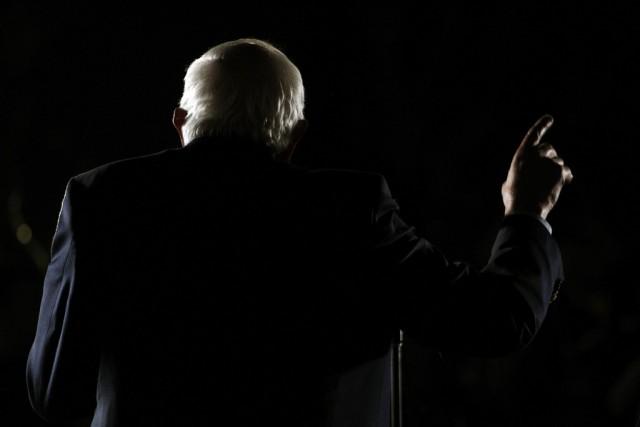 Bernie Sanders vor Anhängern in Flagstaff, Arizona, 17. März 2016. Foto: Ricardo Arduengo (AP)
