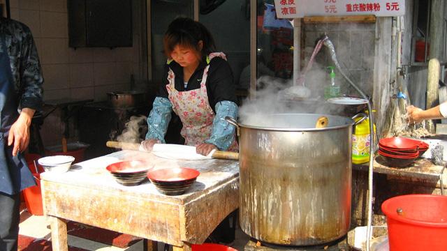 Making noodles