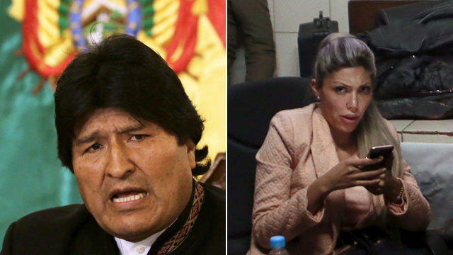 Evo Morales und Gabriela Zapata. (Keystone)