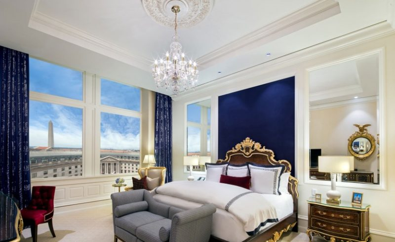 Weltberühmte Aussicht: Presidential Suite im Trump International Hotel in Washington. Fotos: PD