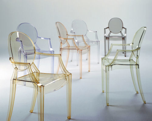Louis Ghost Chairs by Phillipe Starck