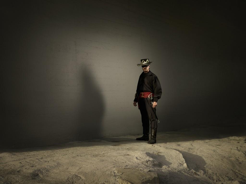 Der Spanier Jordi als Zorro.