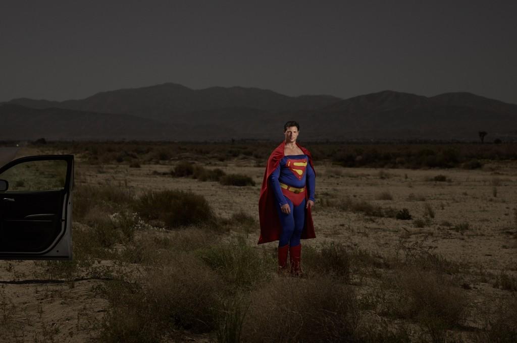 Der Spanier Javier als Superman.