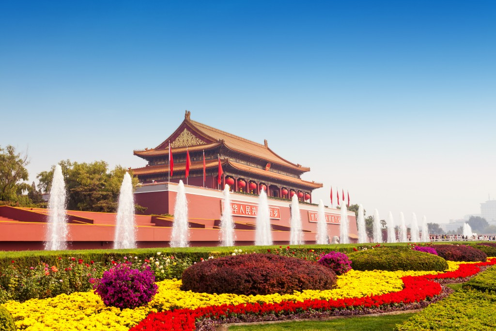 gate tower of Tiananmen  in Beijing