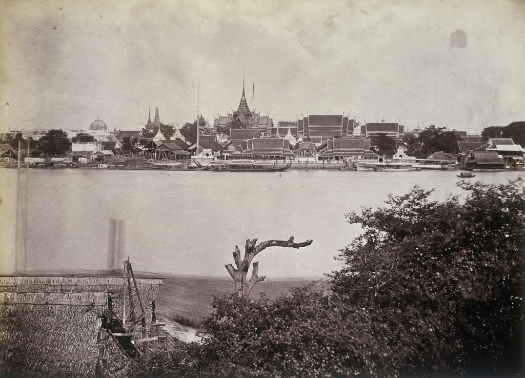 A souvenir of Odoardo Beccari's journeys: view of Bangkok, its river and Royal Palace (Photo by Alinari via Getty Images)