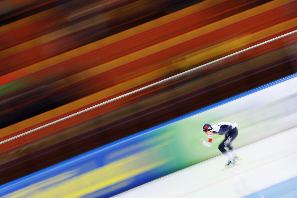 MINSK, BELARUS - JANUARY 10: Eventual winner Martina Sablikova of the Czech Republic competes in the Ladies' 5000m on day two of the ISU European Speed Skating Championships at the Minsk Arena on January 10, 2016 in Minsk, Belarus. (Photo by Harry Engels - ISU/ISU via Getty Images)