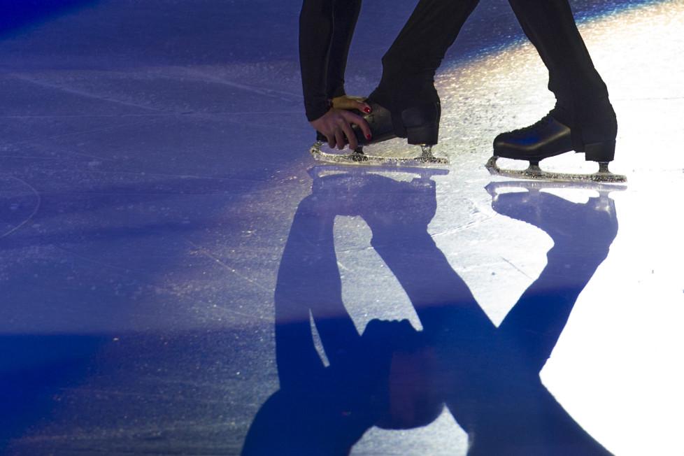 Ortstermin: Art on Ice im Hallenstadion. Back Stage mit Jewgeni Pluschenko und Stephane Lambiel. Ksenia Stolbova & Fedor Klimov. 05.02.2016 (Tages-Anzeiger/Urs Jaudas)