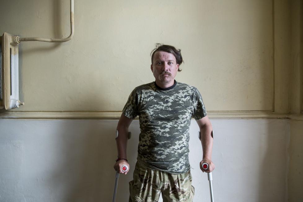 """Ihor, 33, wurde auf dem Maidan angeschossen. Er will trotzdem weiterkämpfen: """"Wir haben erst angefangen."""""""