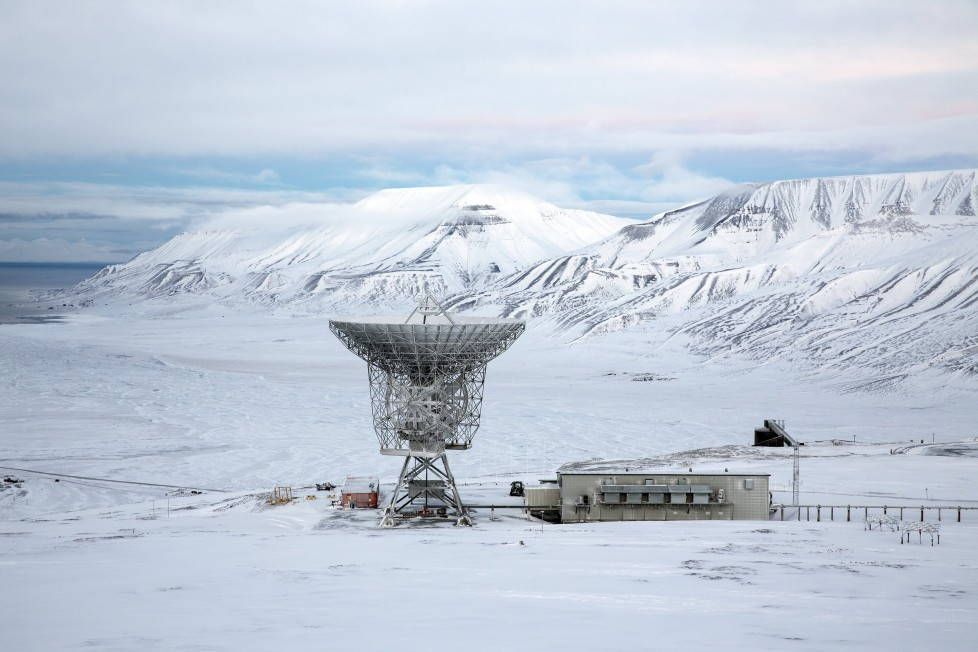 """Radar dish and antennas systems are seen at the European Incoherent Scatter Scientific Association facility on Breinosa, Svalbard, in Norway, October 24, 2015. A Norwegian chain of islands just 1,200 km (750 miles) from the North Pole is trying to promote new technologies, tourism and scientific research in a shift from high-polluting coal mining that has been a backbone of the remote economy for decades. Norway suspended most coal mining on the Svalbard archipelago last year because of the high costs, and is looking for alternative jobs for about 2,200 inhabitants on islands where polar bears roam. Part of the answer may be to boost science: in Ny-Alesund, the world's most northerly permanent non-military settlement, scientists from 11 nations including Norway, Germany, France, Britain, India and South Korea study issues such as climate change. The presence of Norway, a NATO member, also gives the alliance a strategic foothold in the far north, of increasing importance after neighbouring Russia annexed Ukraine's Crimea region in 2014. REUTERS/Anna Filipova TPX IMAGES OF THE DAYPICTURE 13 OF 19 - SEARCH """"SVALBARD FILIPOVA"""" FOR ALL IMAGES"""