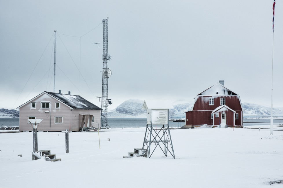 """A weather station is seen in Ny Alesund, one of the most northerly settlements in the world, a base for international scientists, Svalbard October 17, 2015. A Norwegian chain of islands just 1,200 km (750 miles) from the North Pole is trying to promote new technologies, tourism and scientific research in a shift from high-polluting coal mining that has been a backbone of the remote economy for decades. Norway suspended most coal mining on the Svalbard archipelago last year because of the high costs, and is looking for alternative jobs for about 2,200 inhabitants on islands where polar bears roam. Part of the answer may be to boost science: in Ny-Alesund, the world's most northerly permanent non-military settlement, scientists from 11 nations including Norway, Germany, France, Britain, India and South Korea study issues such as climate change. The presence of Norway, a NATO member, also gives the alliance a strategic foothold in the far north, of increasing importance after neighbouring Russia annexed Ukraine's Crimea region in 2014. REUTERS/Anna FilipovaPICTURE 07 OF 19 - SEARCH """"SVALBARD FILIPOVA"""" FOR ALL IMAGES"""