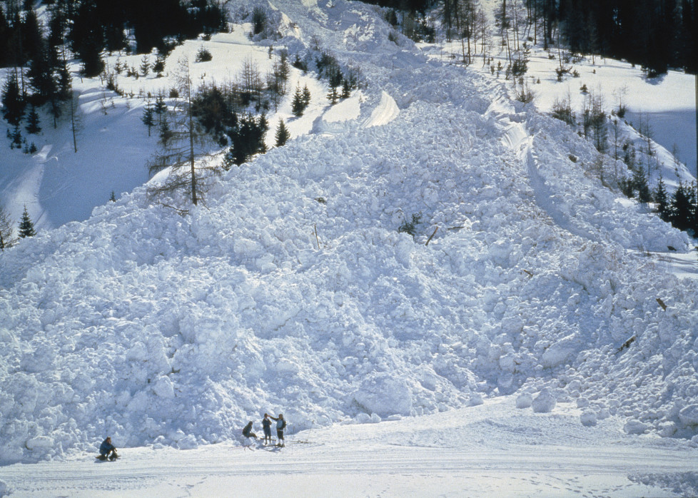 """NATIONAL GEOGRAPHIC SPECIAL -- """"Avalanche: The White Death"""" Aired 05/08/1999 -- Pictured: Avalanche aftermath and wreckage (Photo by Pete Amold/NBC/NBCU Photo Bank via Getty Images)"""