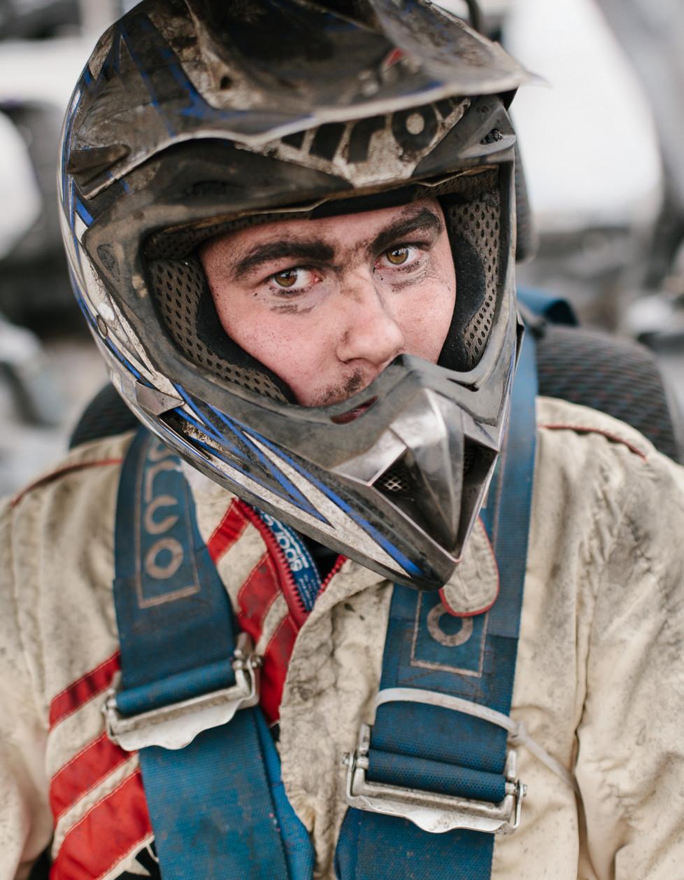 Banger racer before the race, Emmen.