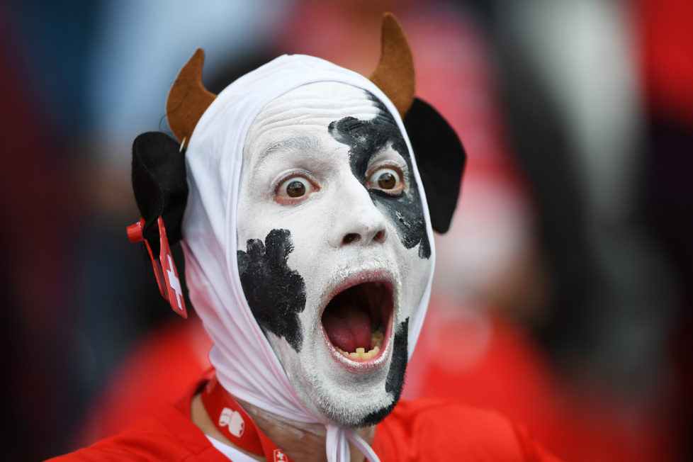 PARIS, FRANCE - JUNE 15: A Swiss supporter looks on during the UEFA EURO 2016 Group A match between Romania and Switzerland at Parc des Princes on June 15, 2016 in Paris, France. (Photo by Shaun Botterill/Getty Images)