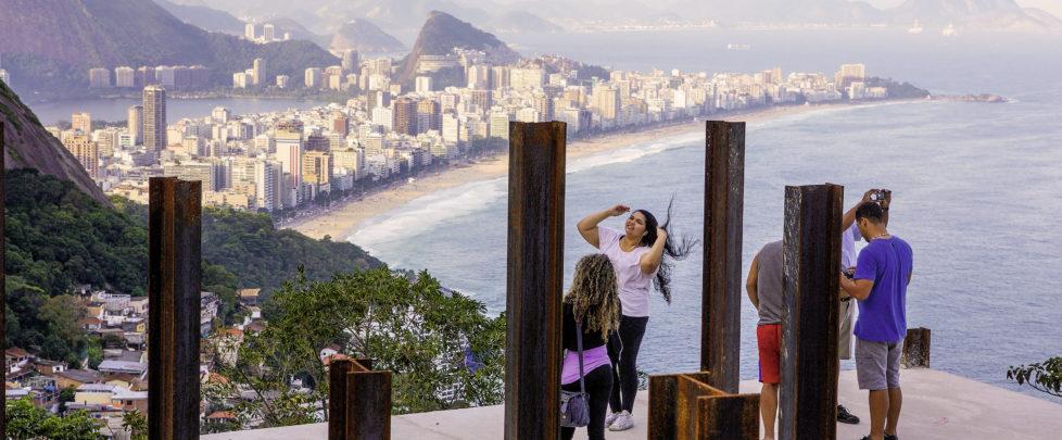 Am höchsten Punkt der Vidigal Favela ist die Aussicht auf Rio am schönsten. Rio de Janeiro, Mai 2015.